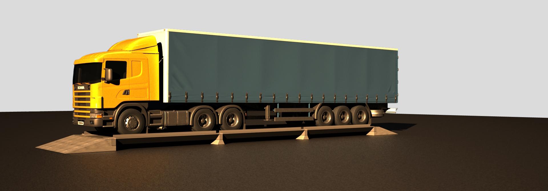 Автомобильные весы с железобетонной грузовой платформой